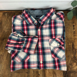 American Rag Men's Long Sleeve Plaid Shirt Large